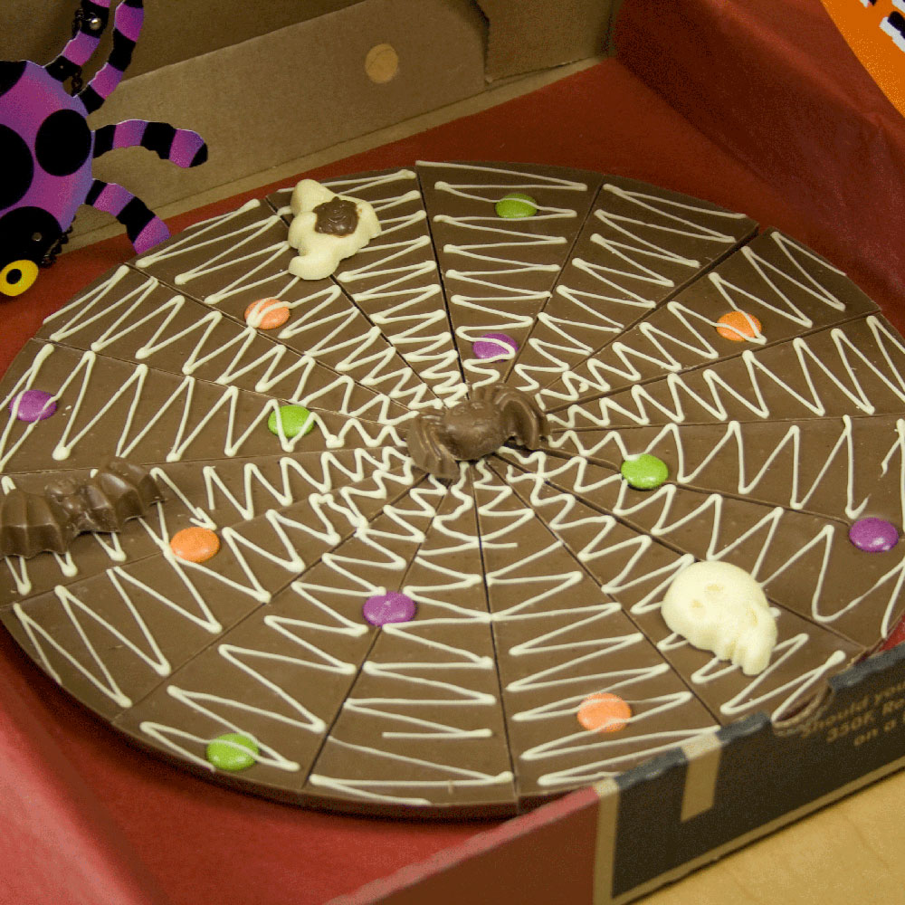 Our spookily delicious Halloween Chocolate Pizza