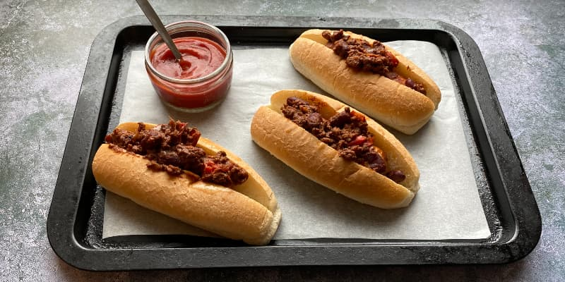 Chocolate Chilli Hot Dogs