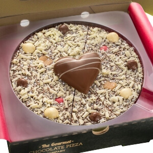 "7"" Valentine's Day Chocolate Pizza"