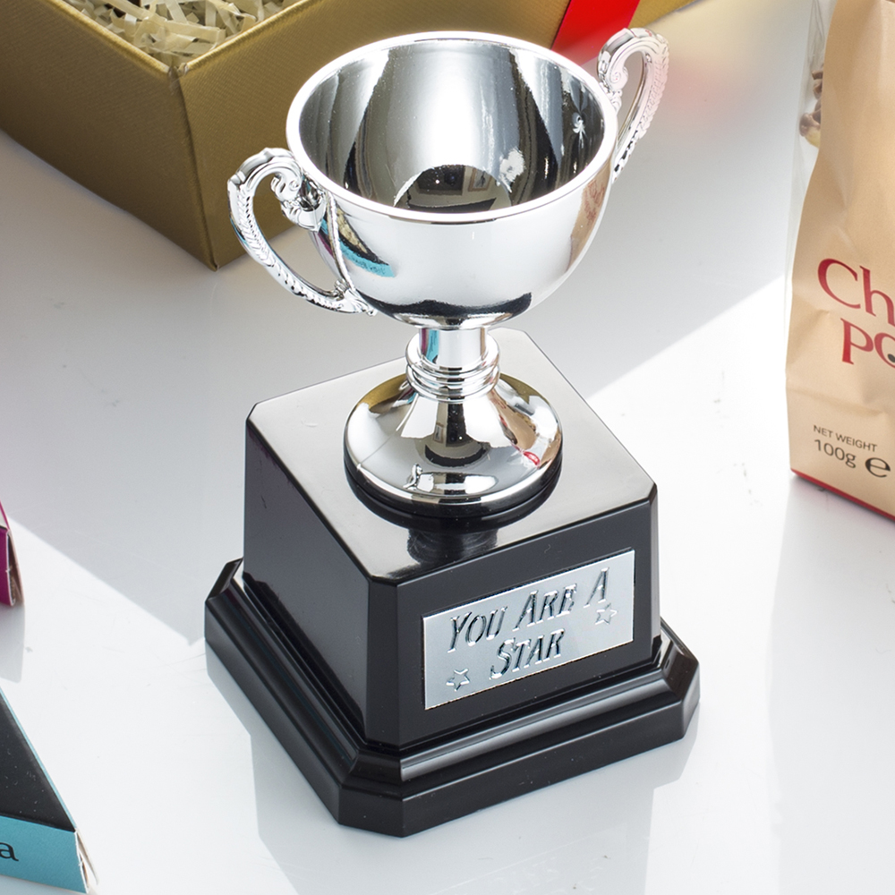 Includes a mini trophy engraved with the words 'You Are A Star'