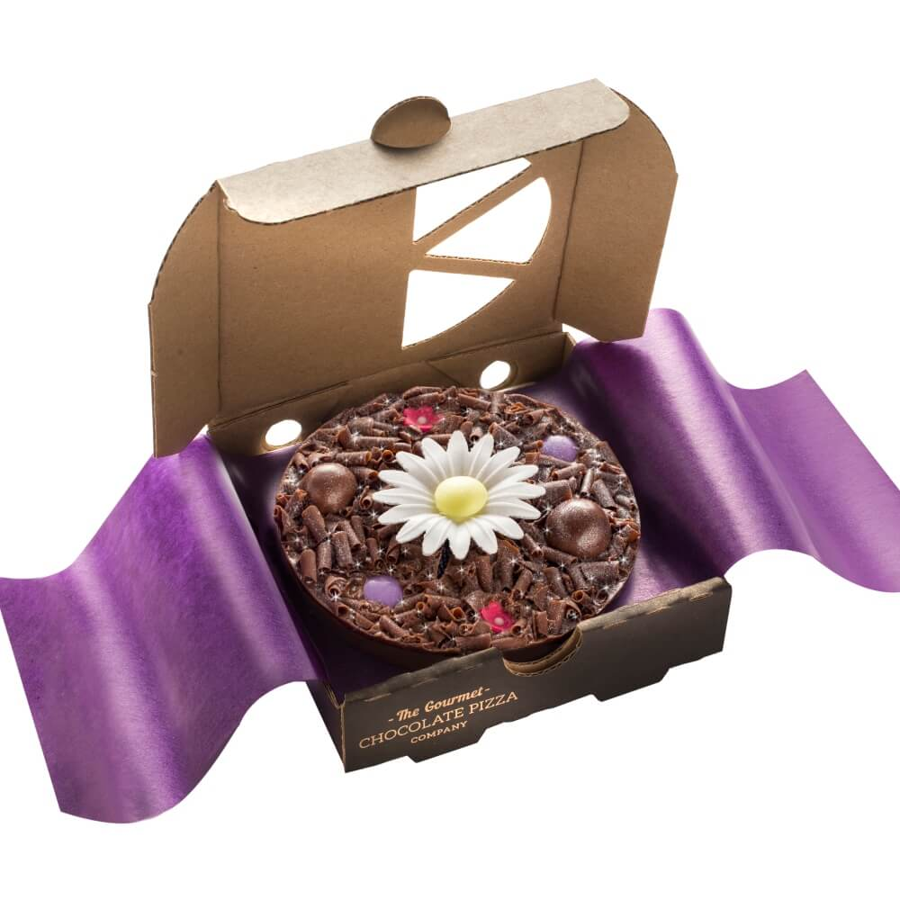 Mini Flower Chocolate Pizza - a mini chocolate treat perfect for birthdays and Thank yous...