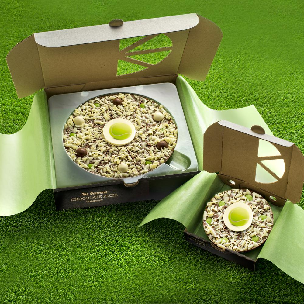 Wimbledon here we come - our tennis-themed chocolate pizzas are ideal for any tennis lovers