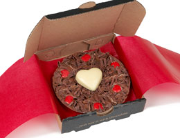 Valentine's Mini Chocolate Pizza
