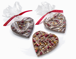 Fruit and Nut Chocolate Hearts