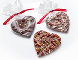 Fruit & Nut Chocolate Hearts