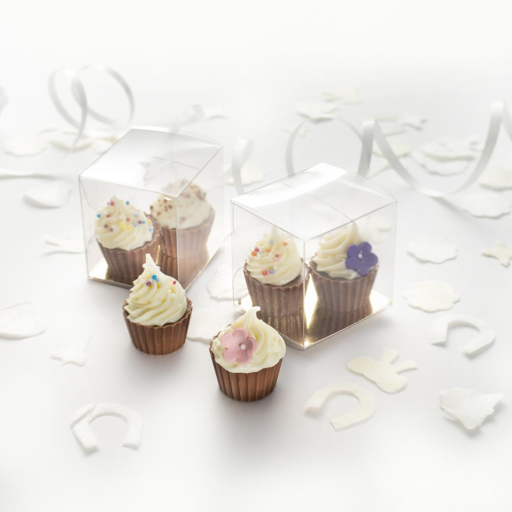 Mini Chocolate Cupcakes. The Perfect Wedding favour.