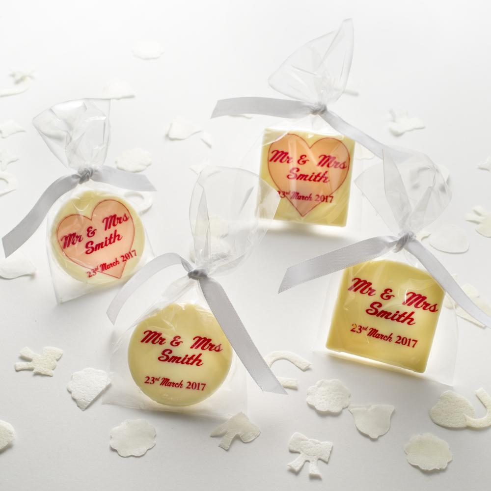 Personalised Wedding Favours   The Gourmet Chocolate Pizza Co