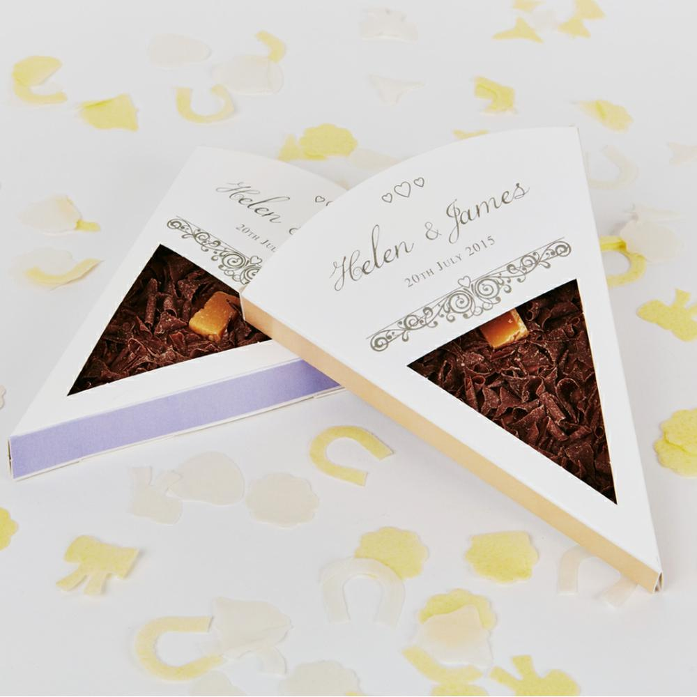 Personalised Wedding Favour Slices | The Gourmet Chocolate Pizza Co