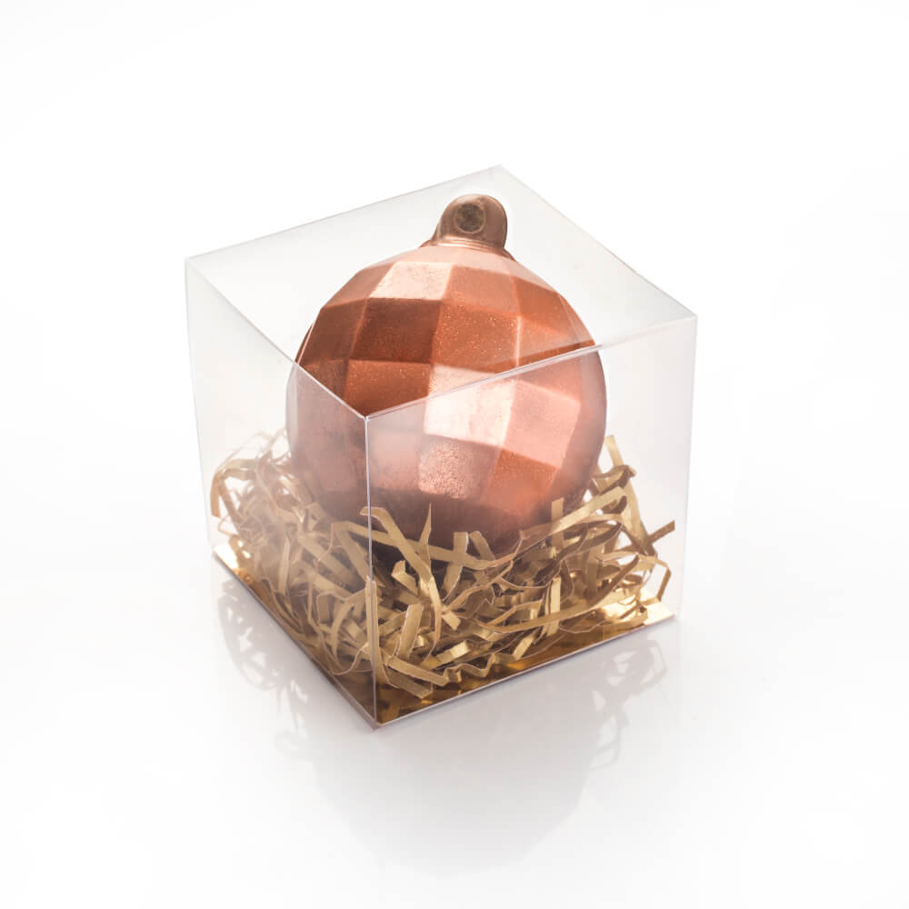 Milk Chocolate Bauble in Bronze Shimmer.