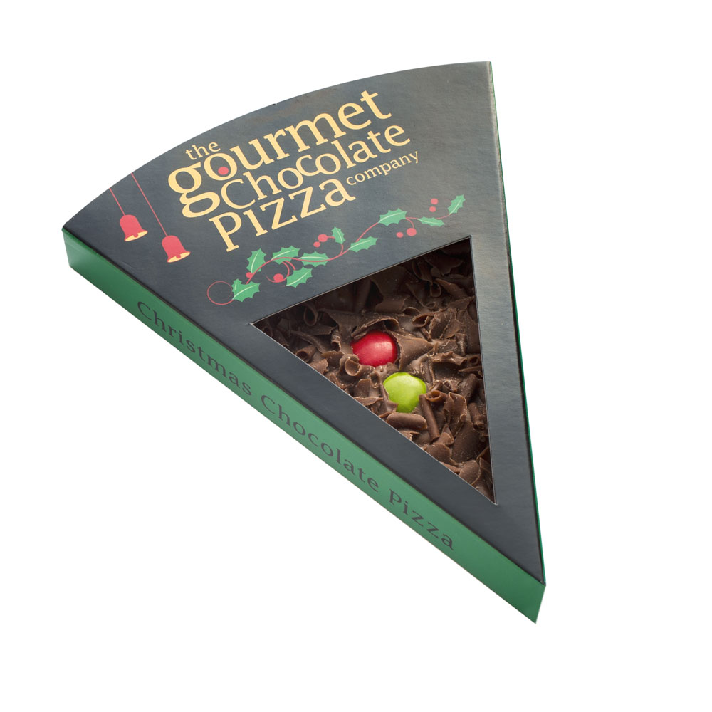 Our Christmas Chocolate PIzza Slice will get you in the festive mood