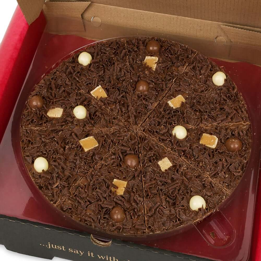 10 inch Heavenly Honeycomb Chocolate Pizza