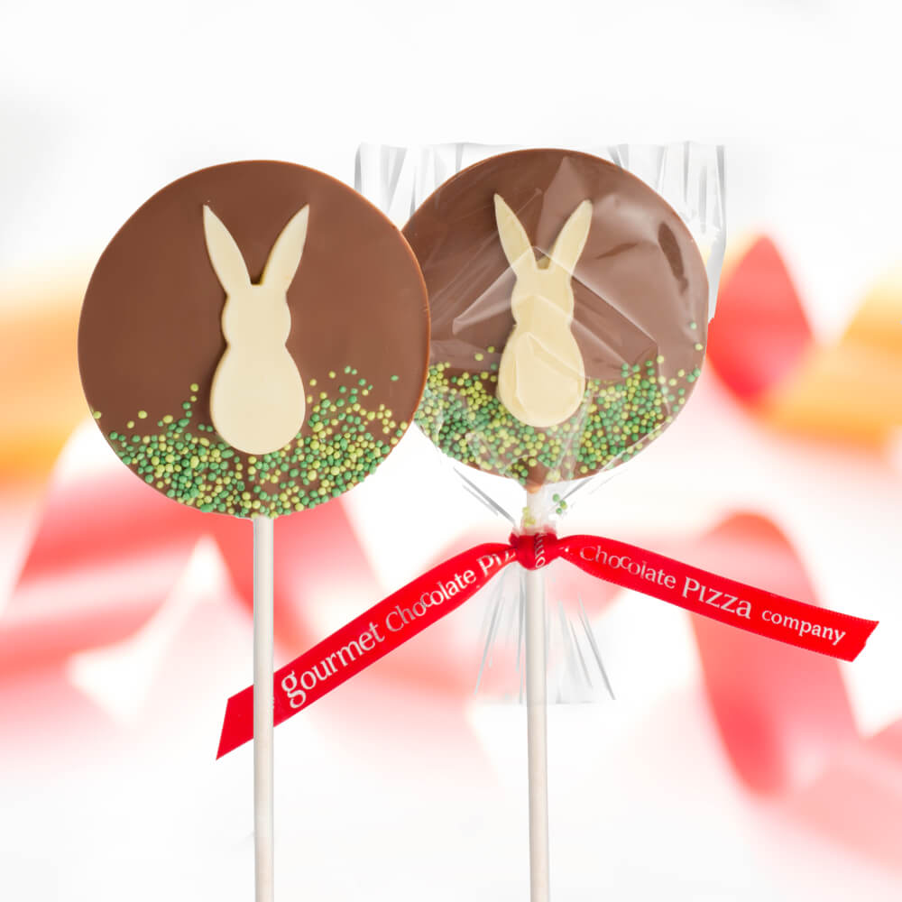 Hop for joy this Spring as our Chocolate Bunny Lollipops are back in stock!