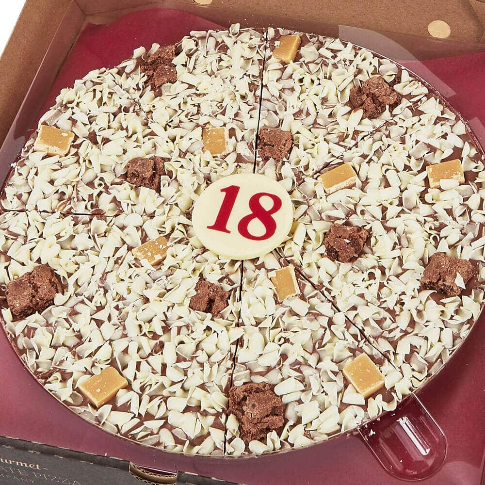 Personalised 18th Birthday Chocolate Pizza