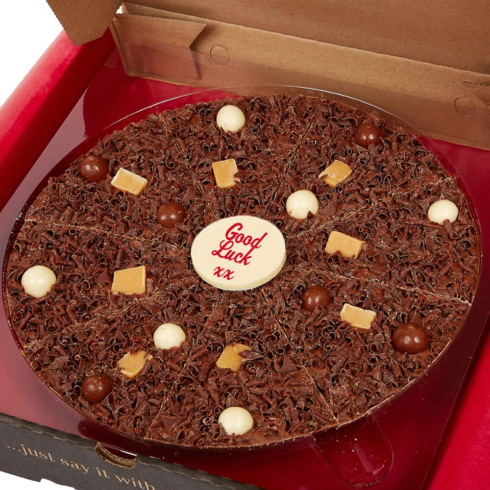 Offer words of encouragement using our Personalised Chocolate Pizzas