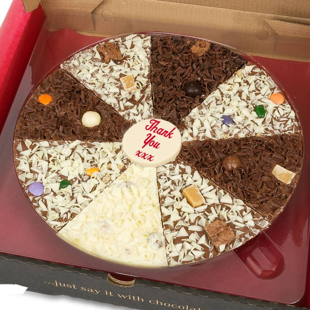 Say Thank You with our Delicious Dilemma Chocolate Pizzas