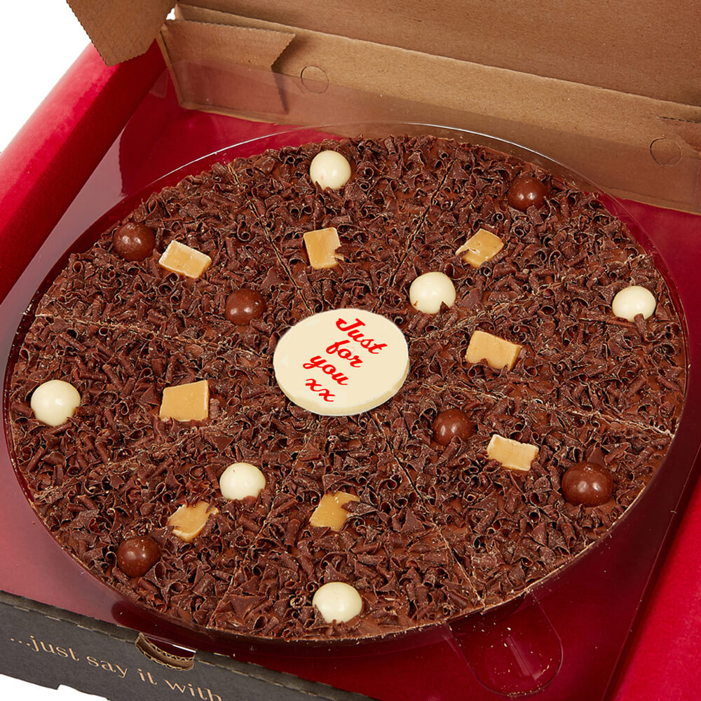 Include your message on a chocolate plaque!