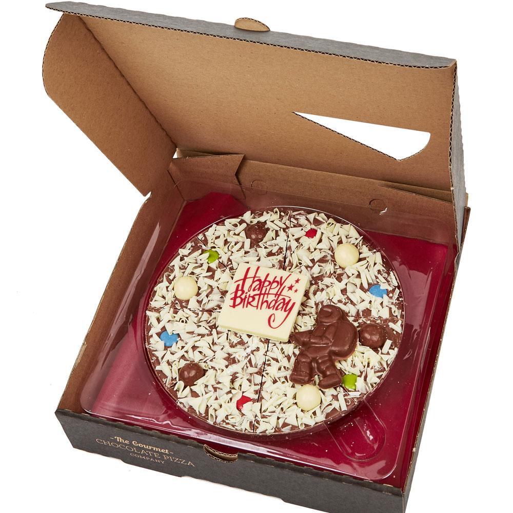 Boy S Birthday Chocolate Pizza The Gourmet Chocolate